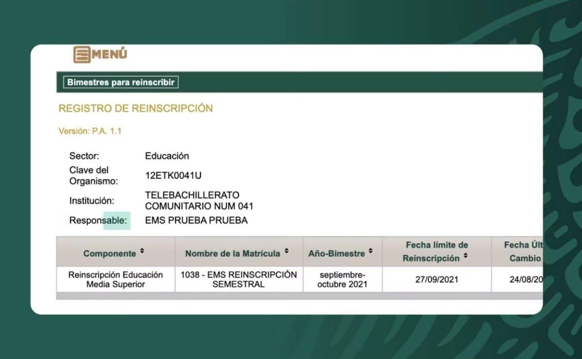 Consulta SIREL para realizar el registro de alumnos de media superior a las Becas Benito Juárez