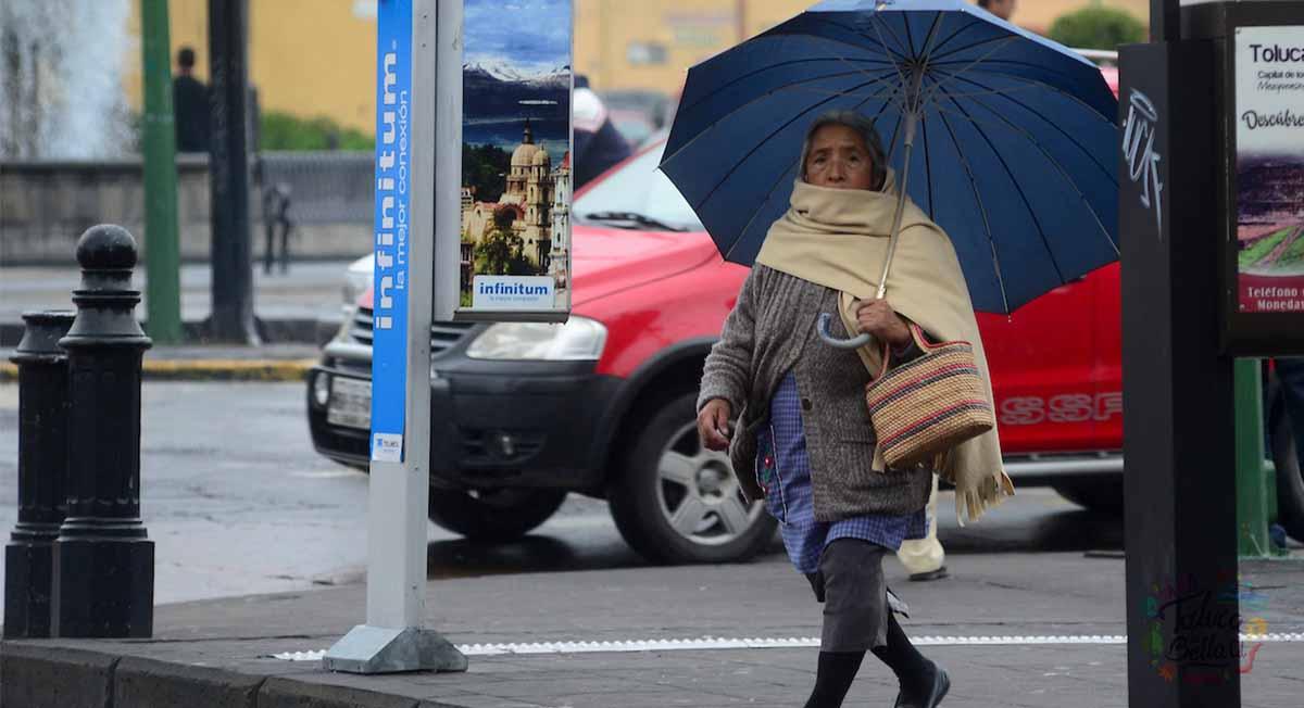 Clima Toluca, se pronostican lluvias con posible descarga eléctrica