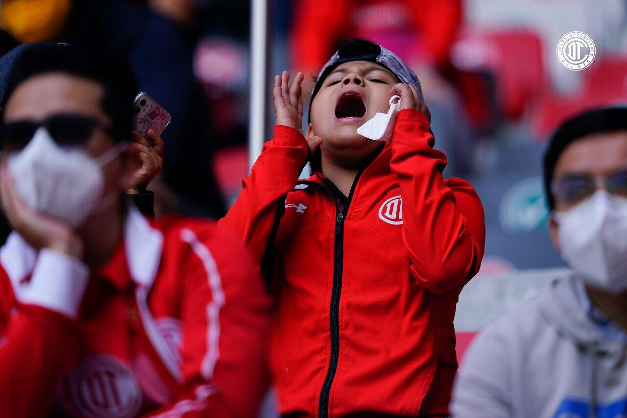 Toluca FC suma seis partidos sin conocer la victoria