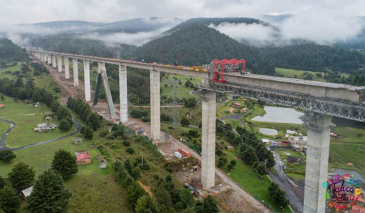 Tren interurbano México-Toluca: Tiene como fecha maximo para concluir las obras en el 2024