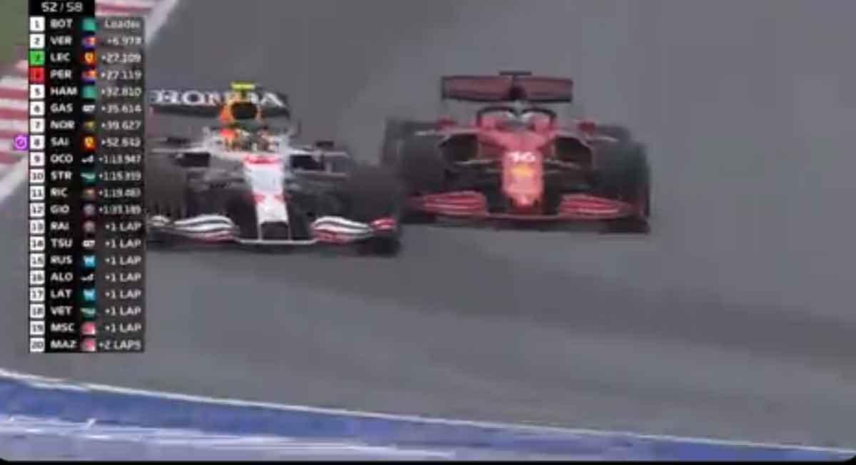 Video del momento en que Checo Pérez gana el podio en el Gran Premio de Turquía 2021