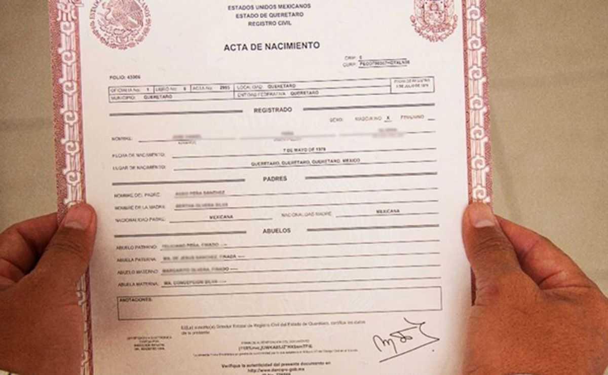 Ya se podrán imprimir actas de nacimiento y matrimonio desde casa