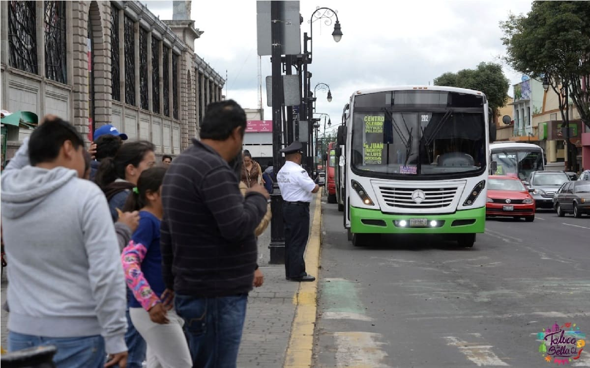 eliminan rutas de transporte en toluca