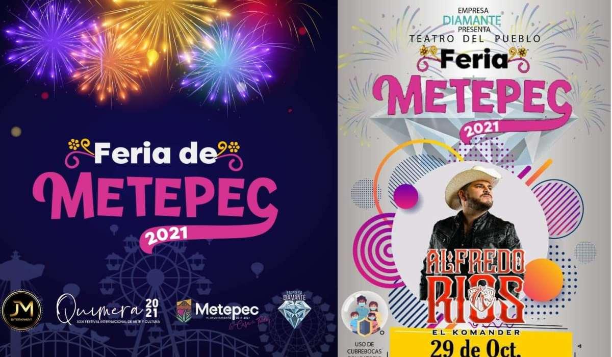 Fecha exacta y posible cartel de artistas de la Feria de Metepec 2021