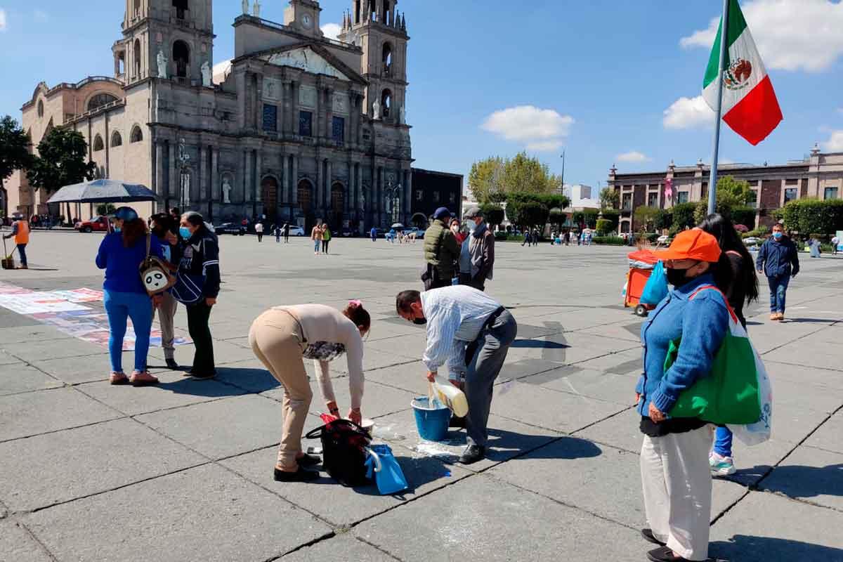 'Los Nadies del Edomex' Protesta en Plaza de los Mártires en Toluca. Libertad para los nadies presos injustamente en penales del Estado de México