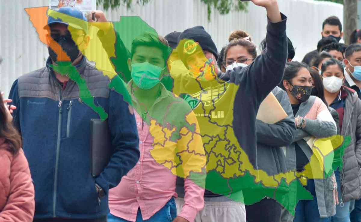 Mapa de semáforo México: ¿Qué estados siguen en verde, amarillo y naranja?