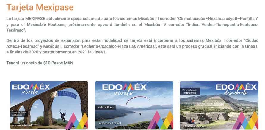 Nueva tarjeta del Mexipase para mexicable y mexibus trasporte publico del Edoméx