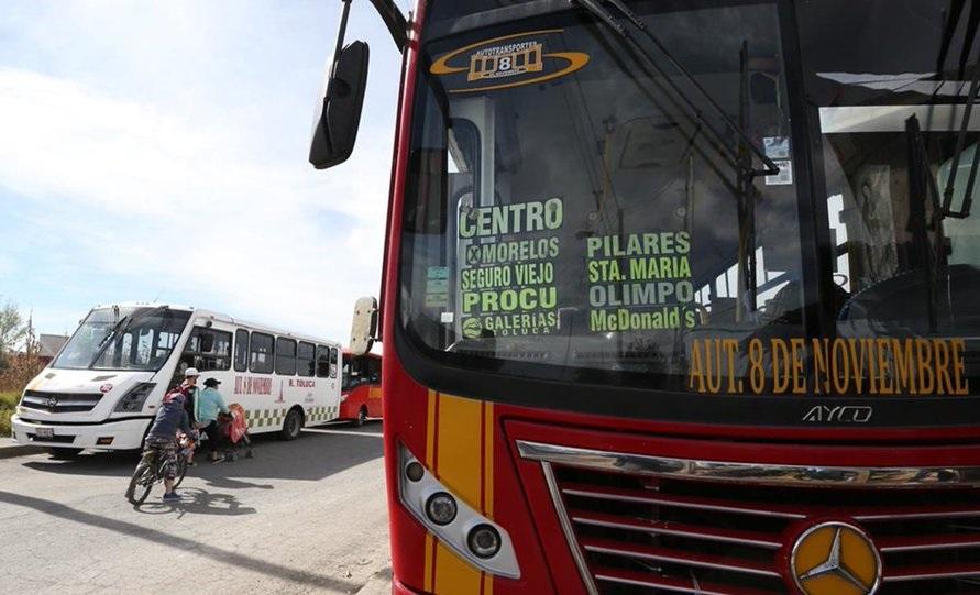 eliminan rutas de transporte en toluca 2021