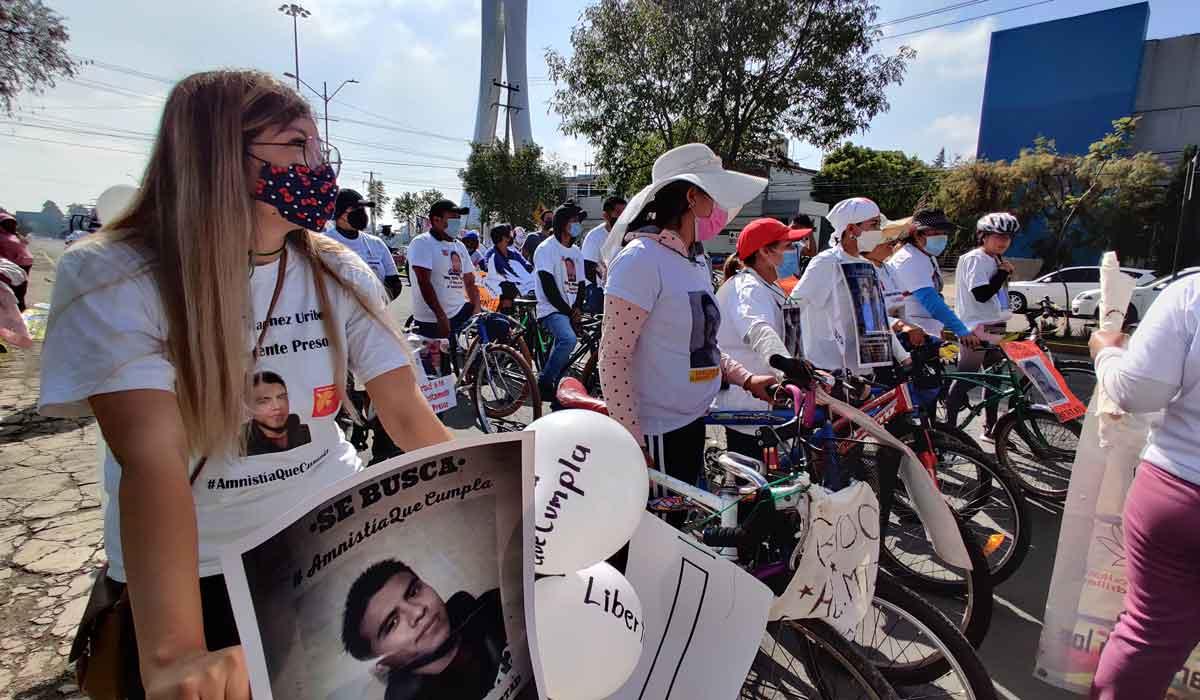 "Rodada en Toluca exigiendo ""La Libertad de los Nadies"""