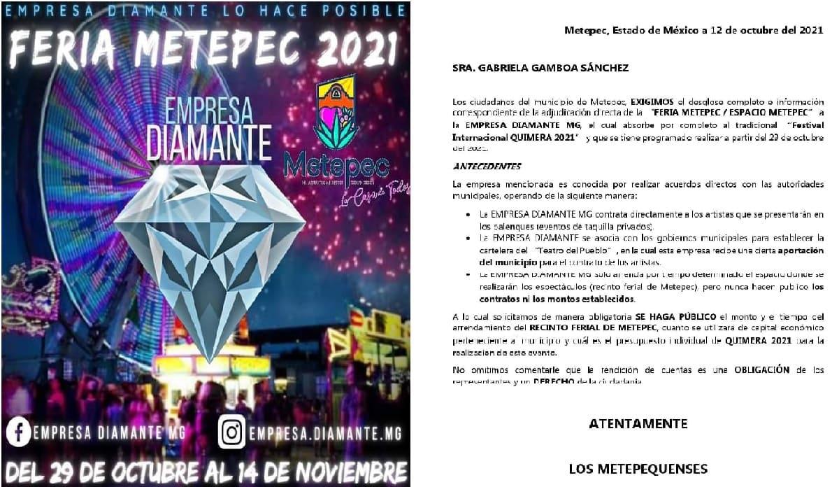 Habitantes de Metepec se quejan ante presencia deFeria de San Isidro 2021