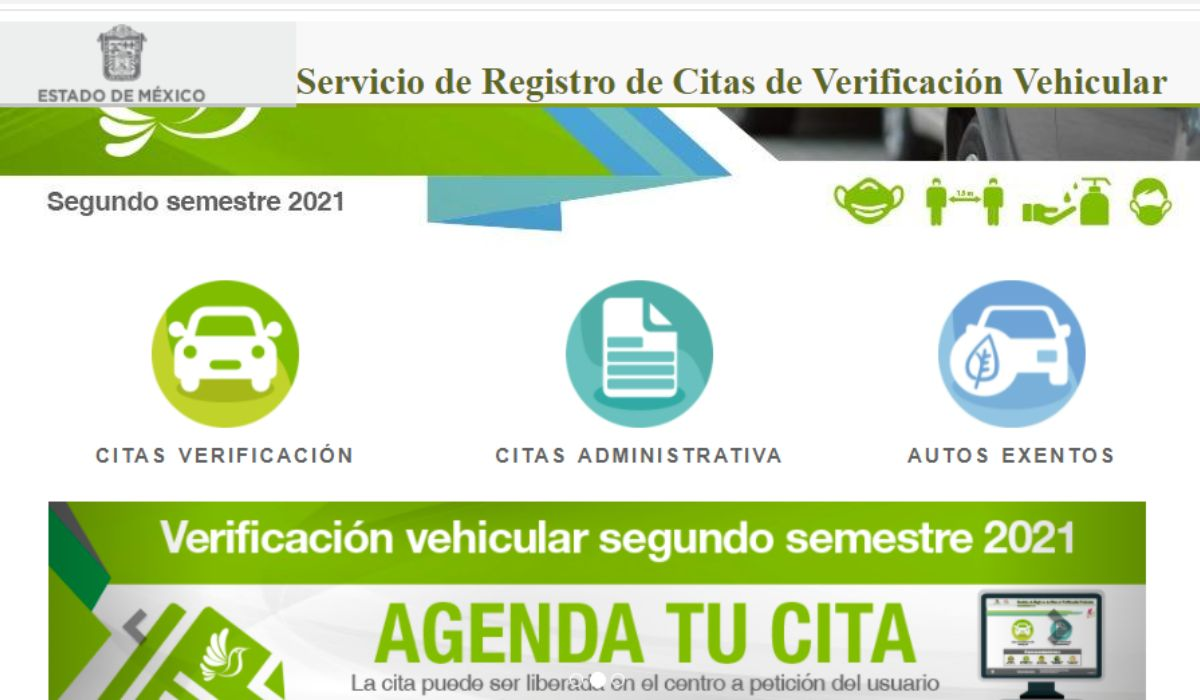Pasos para sacar una cita y realizar la verificación vehicular EdoMéx 2021